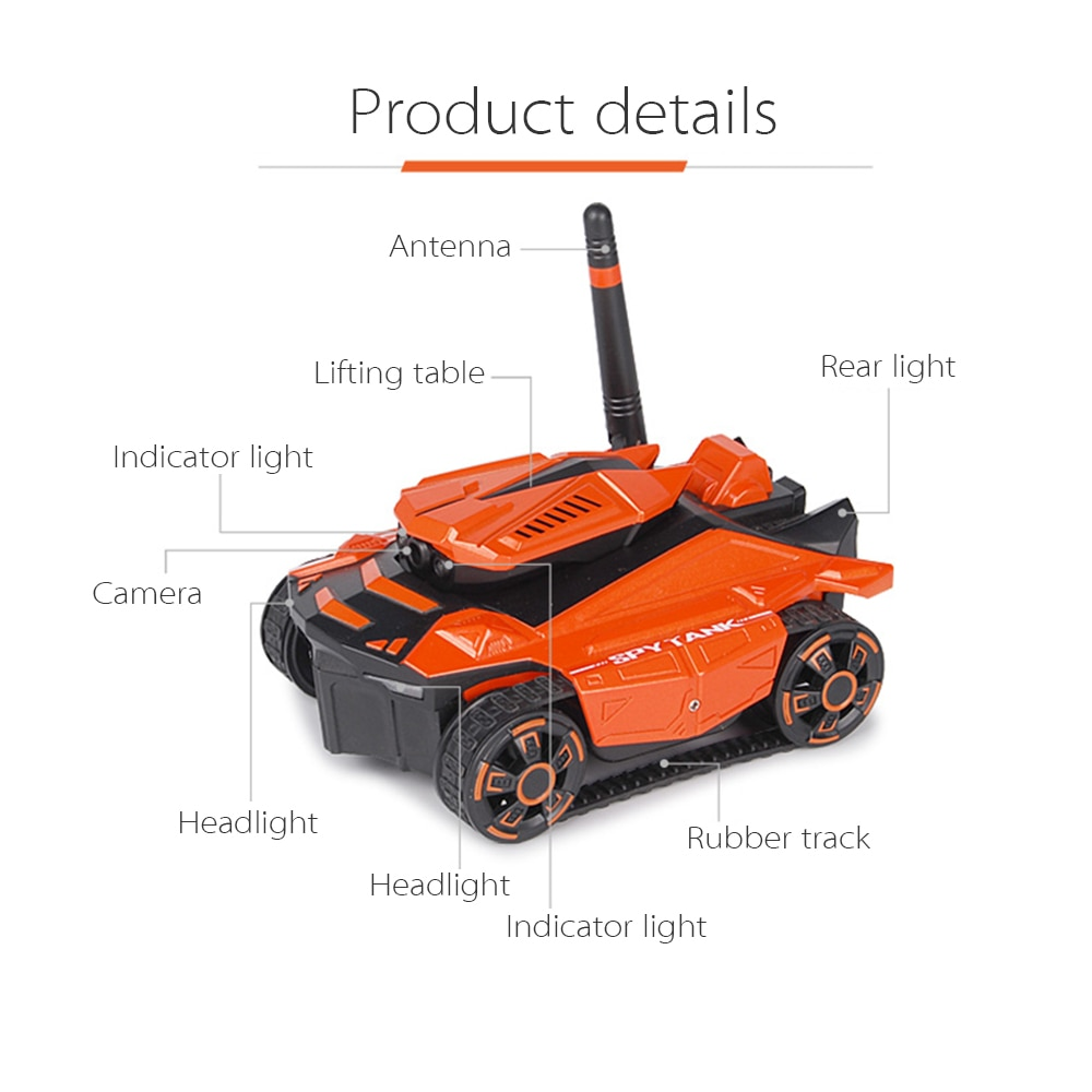 RC Car Tank YD-211 Wifi FPV 0.3MP Camera App Remote Control Spy Toy Phone Contro
