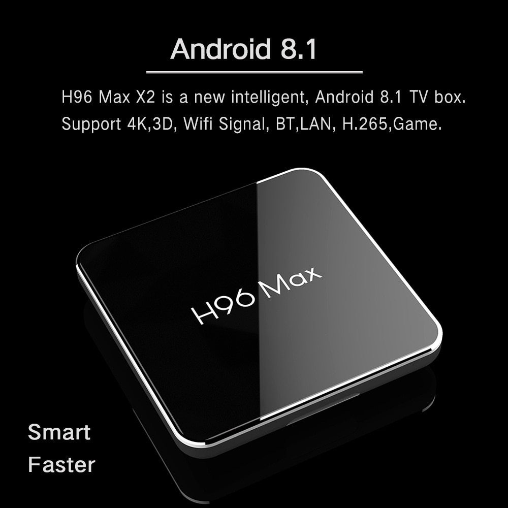 H96 Max X2 Android 8.1 4K HD Smart TV Box Amlogic S905X2 Quad Core WIFI 2019 New